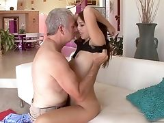 Ass, Babe, Blowjob, Boobless, Couch, Cumshot, Daughter, Dick, Doggystyle, Facial,