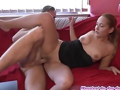 Amateur, Bareback, Casting, Couple, Cowgirl, Cum In Mouth, Cum Swallowing, Cumshot, Doggystyle, German,