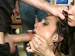 Abuse, BDSM, Bondage, Bound, Brunette, Desk, European, From Behind, Hardcore, Humiliation,