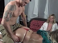 Amateur, Ass, Babe, Cunnilingus, Cute, Foursome, Homemade, Massage, Oiled, Pussy,