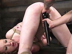 BDSM, Blowjob, Bondage, Boobless, Clamp, Clit, Cumshot, Deepthroat, Facial, Fisting,