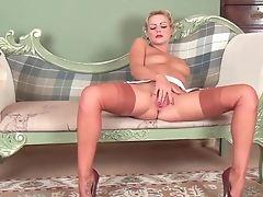 Big Tits, Classic, MILF, Retro, Solo, Stockings, Vintage,