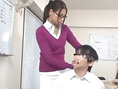 Amazing, Babe, Couple, Femdom, Footjob, Japanese, Jav, Office,