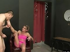 Ballbusting, Blonde, Blowjob, Couple, Cute, Hardcore, Horny, Stylish,