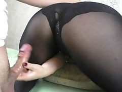 Amateur, Ass, Big Ass, Feet, Fetish, Handjob, Nylon, Pantyhose, POV, Sister,