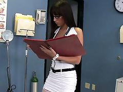 Blowjob, Brunette, Clinic, Clothed Sex, Doctor, Hospital, Lingerie, Nurse, Stockings, Story,