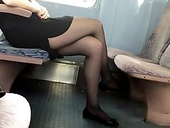 Beauty, Feet, Foot Fetish, Footjob, Legs, Nylon, Pantyhose, Stockings, Voyeur,