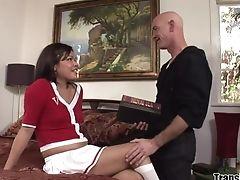 Transessuale Scopa Ragazzo: 1103 Video