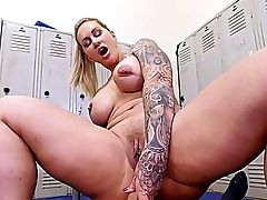 Big Ass, Big Tits, Blonde, Blowjob, Changing Room, Cowgirl, Curly, Dick, Facesitting, Fake Tits,