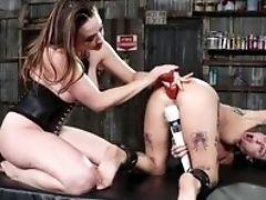 Anal Sex, Babe, Boots, Brunette, Chanel Preston, Clamp, Dildo, Gyno, Joanna Angel, Krystal Boyd,