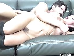 Ariella Ferrera, Ballbusting, Big Tits, Blowjob, Brunette, Couple, Cute, Fake Tits, Handjob, Hardcore,