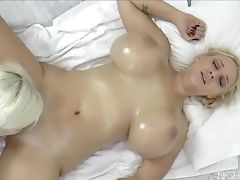 Ass, Big Tits, Blonde, Female Orgasm, Fingering, Granny, Kissing, Lesbian, Massage, Mature,