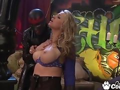 Big Tits, Fetish, FFM, Fucking, Huge Cock, Hunter Bryce, Leather, Sarah Vandella, Threesome,