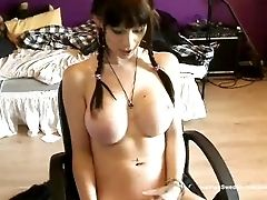 Babe, Big Tits, Cum, Cumshot, Desk, Dick, Swedish,