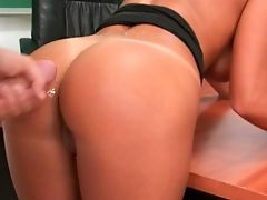 Ass, Brunette, Classroom, Cum On Ass, Cumshot, Desk, Ethnic, From Behind, Latina, Lezley Zen,