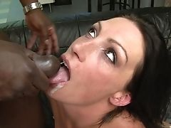 Anal Sex, Ass, Black, Blowjob, Brunette, Couple, Cum, Cum In Mouth, Cum Swallowing, Cumshot,