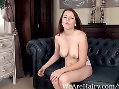 Couch, Ginger, Hairy, Lingerie, Masturbation, Puffy Nipples, Striptease,
