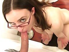 Ass, Babe, Blowjob, Brunette, Dick, Glasses, Glory Hole, Hardcore, Natural Tits, Nerd,