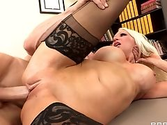 Blonde, Blowjob, Boss, Cowgirl, Cum In Mouth, Cumshot, Desk, Doggystyle, Hardcore, Holly Price,