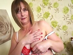 Amateur, Big Tits, British, Brunette, Mature, Striptease,