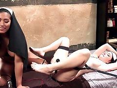 Anal Sex, BDSM, Dildo, Electrified, Femdom, Lesbian, MILF, Naughty, Nuns, Rough,