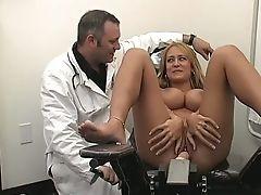 Beauty, Big Tits, Blonde, Cute, Doctor, Examination, Horny, Jerking, Masturbation, Sex Toys,