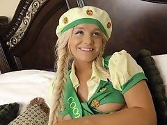 Blonde, Dirty, Horny, Long Hair, Miniskirt, Ponytail, Teen, Uniform,