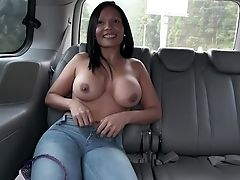 Ass, Babe, Big Black Cock, Big Tits, Brunette, Bus, Car, Colombian, From Behind, Hardcore,
