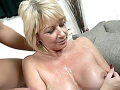 Big Black Cock, Big Tits, Blonde, Cum, Granny, Mature,