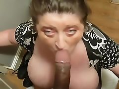 BBW, Big Black Cock, Big Cock, Big Tits, Blowjob, British, Brunette, Interracial, Licking, Mature,