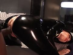 Schwarz, Blowjob, Bekleideter Sex, Paar, Cowgirl, Doggystyle, Eva Karera, Hardcore, Gemischtrassig, Latex,