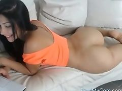 Ass, Babe, Brunette, Clamp, Cute, Long Hair, Model, Pussy, Slim, Solo,