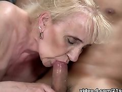 Blonde, Cumshot, Facial, Granny, Muscular,