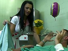 Aletta Ocean, Ass, Beauty, Big Cock, Blowjob, Brunette, Clinic, Cute, Doctor, European,