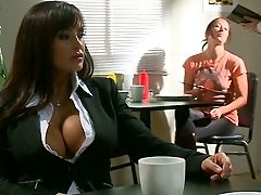 American, Big Tits, Blowjob, Brunette, Clothed Sex, Condom, Lisa Ann, Nikki Benz, Pornstar, Slut,