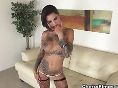 Big Tits, Bonnie Rotten, Dildo, Goth, Masturbation, Pornstar, Sex Toys, Solo, Stockings,