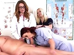 Babe, Blowjob, CFNM, Doctor, Domination, European, Femdom, Glasses, Group Sex, Handjob,