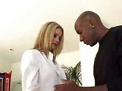 Babe, Black, Blonde, Business Woman, Interracial, White,