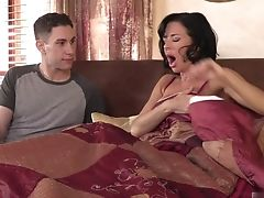 Couple, Dick, Felching, MILF, Pornstar, Veronica Avluv,