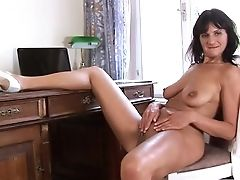 Big Tits, Brunette, Cougar, Dildo, Game, Huge Dildo, Masturbation, Mature, Mom, Pussy,