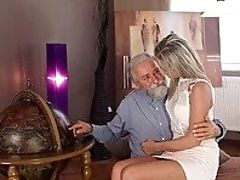 Blonde, Blowjob, Couch, Cunnilingus, Doggystyle, Grandpa, HD, Old And Young, Rough, Teen,
