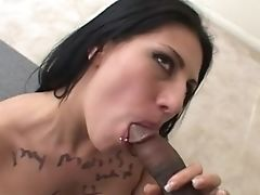 Big Black Cock, Black, Blowjob, Cum In Mouth, Cumshot, Deepthroat, Dick, Interracial, Latina,