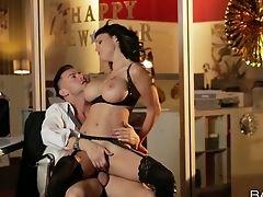 Ass, Ass Licking, Babe, Big Tits, Blowjob, Boots, Brunette, Cowgirl, Cumshot, Cute,