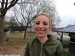 Blonde, Creampie, German, Outdoor, Public, Teen,