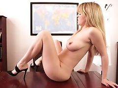 Amateur, Ass, Babe, Big Tits, Brook Little, Cute, HD, Masturbation, MILF, Office,
