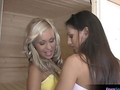 Adriana Russo, Blonde, Brunette, Cute, Eve Angel, Lesbian, Sauna,