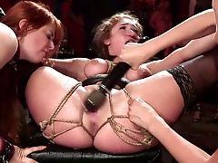 Anal Sex, Ass, Ass Fucking, Ass Licking, BDSM, Big Tits, Bondage, Boots, Brunette, Cumshot,