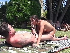 Car, Couple, Doggystyle, Fucking, Hardcore, Long Hair, Mea Melone, Natural Tits, Outdoor, Pornstar,