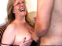 Amateur, Big Tits, Blowjob, Cum On Tits, Cumshot, German, MILF, Wife,