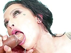 Ass, Big Black Cock, Big Cock, Big Natural Tits, Blowjob, Brunette, Cum, Cum In Mouth, Cumshot, Dick,